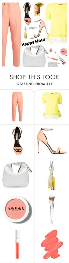 """Bottoms Up: Happy Hour"" by pokadoll ❤ liked on Polyvore featuring N°21, STELLA McCARTNEY, Fresca, Victoria Beckham, Nine West, LORAC, Hedi Slimane, Clinique, Obsessive Compulsive Cosmetics and happyhour"
