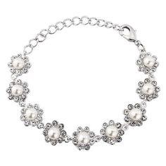 Georgie Pearl Flower Bracelet