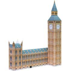 Paper nano Big Ben London England Laser Cut Paper Build Model