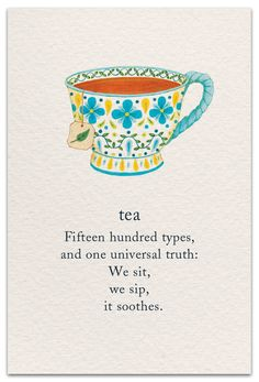 cuppa tea Cardthartic creates greeting cards youll be proud to send and happy to receive. Youll find cards to celebrate birthdays, weddings, new babies and anniversaries, along with cards th Tea Quotes, Life Quotes, Quotes About Tea, Tea Time Quotes, Tea Lover Quotes, Spiritual Symbols, Spiritual Meaning, Buch Design, Symbols And Meanings