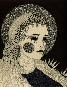 Daria Hlazatova #dark #illustration #drawing