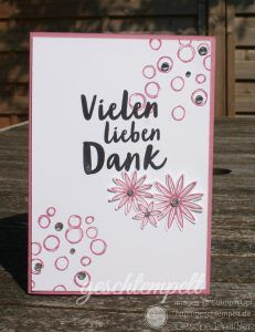 Stampin up, Zum Dank, Playful Backgrounds, so dankbar