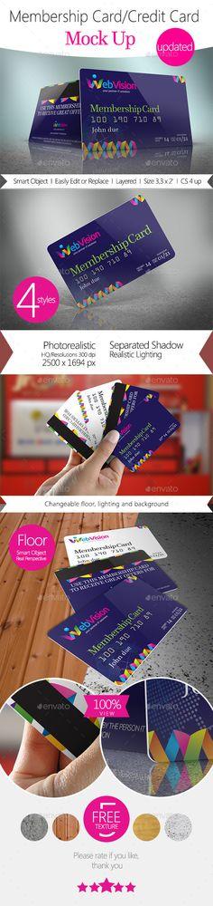 Membership Card/Credit Card Mock Up - Miscellaneous Print #psd #mockup #credit #card #membership #card #loyalty #card
