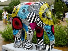 Another gorgeous one from the Painted Elephant Parade in Singapore
