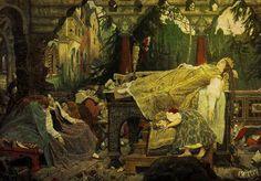 Viktor Vasnetsov, Sleeping Princess/Виктор Васнецов - Спящая Царевна, 1900-1926