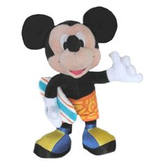 "Disney 10"" Surfing Mickey Mouse Plush Doll"
