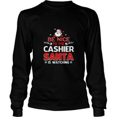 Be Nice To The Cashier Santa Is Watching - Mens Long Sleeve T-Shirt  #gift #ideas #Popular #Everything #Videos #Shop #Animals #pets #Architecture #Art #Cars #motorcycles #Celebrities #DIY #crafts #Design #Education #Entertainment #Food #drink #Gardening #Geek #Hair #beauty #Health #fitness #History #Holidays #events #Home decor #Humor #Illustrations #posters #Kids #parenting #Men #Outdoors #Photography #Products #Quotes #Science #nature #Sports #Tattoos #Technology #Travel #Weddings #Women