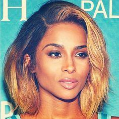 ciara bob - Tiktok Hair Make-Up Best Human Hair Wigs, Remy Human Hair, Blond, Natural Hair Styles, Short Hair Styles, Weave Hairstyles, Ciara Hairstyles, Hair Goals, Dyed Hair