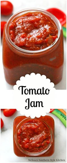 Tomato Jam - It seems like tomatoes in the Summer tend to come in with a vengeance. Retro Recipes, Great Recipes, Favorite Recipes, Unique Recipes, Jelly Maker, Sauces, Jam And Jelly, Cooking Ingredients, Canning Recipes