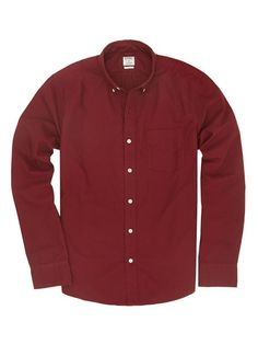 Rhodes Collar Slim Shirt - Burgundy