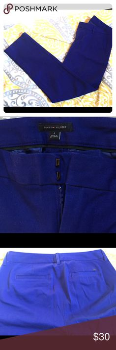 Tommy Hilfiger blue plants. Excellent. Worn twice Tommyhilfiger blue pants . Stretchy to fit accurately. Smoke  free pet free. Excellent condition. Worn twice Tommy Hilfiger Pants Straight Leg
