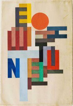"igormaglica: ""Vasily Ermilov / Vasyl Yermylov / Vasyl Yermilov (1894–1968), Composition with Capital Letters, 1915. "":"