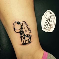 cute baby giraffe tattoo more giraffe tattoos baby name tattoos style ... Baby Shower Sea Turtle Cartoon
