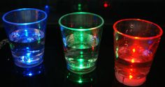 Add some FLASH to your shots at your next night club party. Our short flashing light up LED shot glass is great for lighting up any glow party or event.