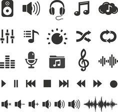 Audio Sound Music Icons and Player Buttons – Vector Set vektorkonstillustration Audio Sound Musik Icons und Player Buttons – Vector Set vektorkonstillustration Dj Tattoo, Tattoo Set, Tiny Tattoo, Tattoo Moon, Tattoo Fonts, Tattoo Quotes, Music Lyric Tattoos, Music Lyrics, Audio Sound
