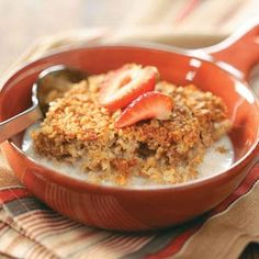 Baked Oatmeal Recipe from Taste of Home -- shared by Arlene Riehl of Dundee, New York