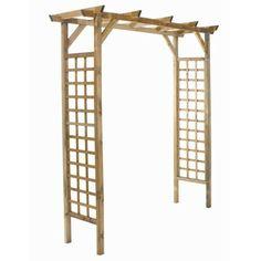 Pergola double droite eco en bois h 210 cm pergolas et ps for Jardiland pergola bois