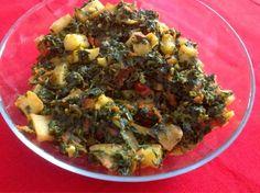 fresh n healthy eats: Sindhi Aloo Methi ( Sindhi Potato and Fenugreek Ve...