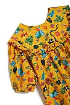 155 – loja-mobile Baby Girl Dress Design, Girls Frock Design, Kids Frocks Design, Baby Boy Dress, Baby Frocks Designs, Stylish Dresses For Girls, Toddler Girl Dresses, Little Girl Dresses, Baby Girl Frocks