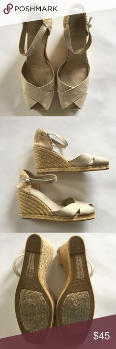 Castaner vintage pieep toe espadrilles Famous Spanish label maker of great espadrilles. Very gently worn. A great neutral feminine shoe that looks great with skirts and well, everything. Shoes Espadrilles