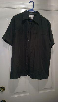 Croft & Barrow NWT Men's Green Button Down Shirt Size M #CroftBarrow #ButtonFront
