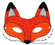 Fox mask and other free printable animal masks