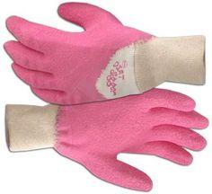Pink Gloves, Gardening Gloves, Bubblegum Pink, Bubbles, Bubble Gum, Girly, Digger, Medium, Boss