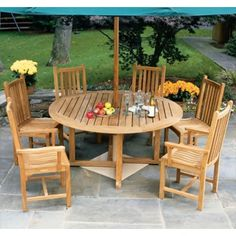 Classic Teak Dining Collection |  #outdoordining #outdoorseating #outdoorfurniture | by http://www.frontera.com