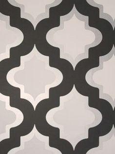 DecoratorsBest - Detail1 - CC W0001/03 - Kasbah - Black White - Wallpaper - Fabrics - DecoratorsBest