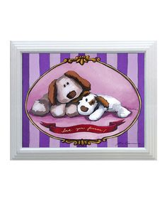Take a look at this Purple 'Love You Forever' Print by Plush Portraits on #zulily today!
