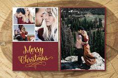 Christmas Card Template 011. Card Design Templates. $8.00