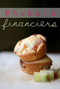 Gluten-Free & dairy-free Rhubarb Financiers; uses almond flour