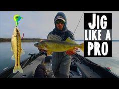 How To Jig Walleyes Like A Pro - YouTube Walleye Fishing Tips, Pike Fishing, Fishing Rigs, Fishing Tools, Carp Fishing, Trout Fishing, Fishing Tackle, Fishing Stuff, Fish Information