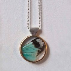 Cicada Wing Necklace Blue design inspiration on Fab.