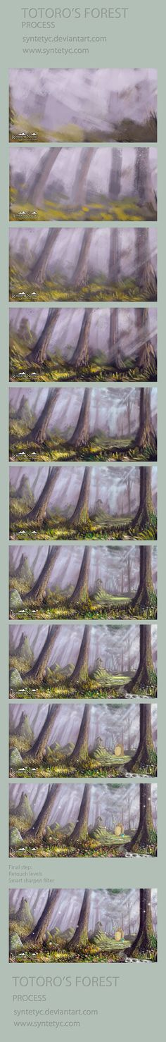 Totoro's Forest - Process by *Syntetyc on deviantART