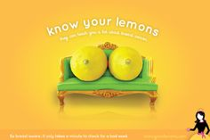 know your lemons worldwide breast cancer poster
