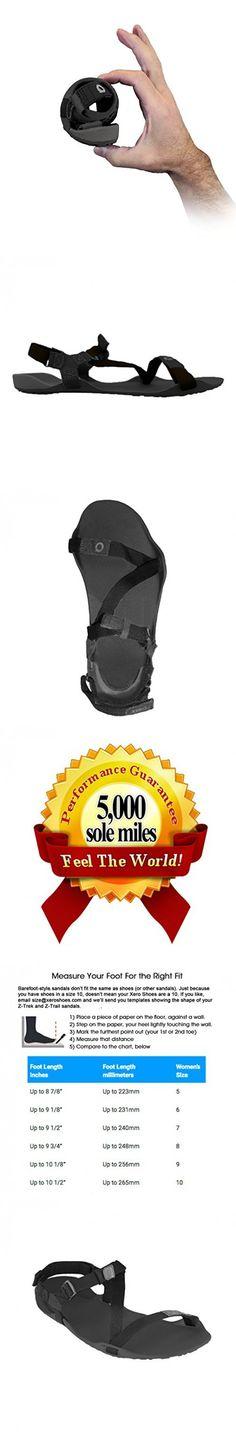 Xero Shoes Barefoot Sport Sandals - Amuri Z-Trek - Women - Coal Black/Black - 8 M US