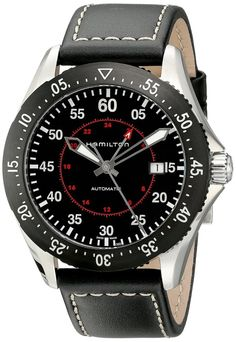 men watches | Top watchesHamilton Hamilton Men's H76755735 Khaki Aviation Stainless Steel Automatic Watch with Black Leather Band