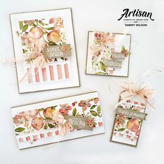 Birthday Thanks, Birthday Cards, Happy Birthday, Card Making Inspiration, Making Ideas, Youre A Peach, Shabby Chic Cards, Stampin Up Catalog, Craft Club
