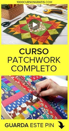 If you want to learn patchwork, then we bring this free patchwork course … Patchwork Tutorial, Patchwork Quilt Patterns, Crazy Patchwork, Patchwork Fabric, Patchwork Designs, Quilting Designs, Patchwork Ideas, Diy Xmas Gifts, Quilt Sets