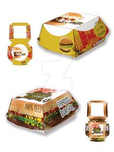 Burger Box Packaging Template