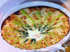 #pizza con #asparagi