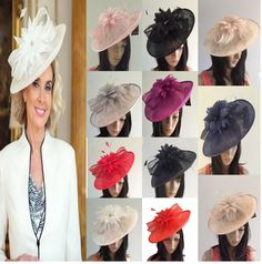 245638f0 Details about NIGEL RAYMENT DISC FASCINATORS ASCOT WEDDING HATS OCCASION  MOTHER OF THE BRIDE