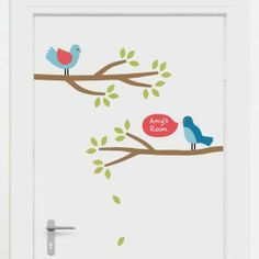 Our Springville wall stickers theme creates a pretty as can be little world for your child's bedroom or nursery. Full of happy little birds, friendly butterflies, flowers, a gorgeous tree and more, you'll be spoilt for choice with these cute wall decals! Wall Decor Stickers, Wall Decals, Little Birds, Kids Bedroom, Nursery, Branches, Home Decor, Glow, Interior Design