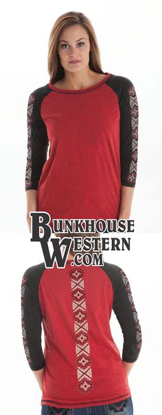 Cowgirl Tuff, Tee Shirts, Tees, Western Wear, Country Girls, Rodeo, Red Black, Aztec, Barrel