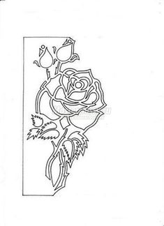 Free Carved Greeting Card Pattern – Rose and Butterfly   www.FabArtDIY.com LIKE Us on Facebook ==> https://www.facebook.com/FabArtDIY