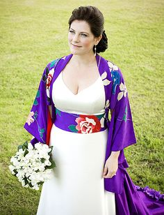 i am loving asian inspired wedding dresses (if this had a bit higher neckline, I would totally want this!)