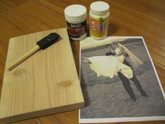 DIY picture on wood. I want to try! So adorable