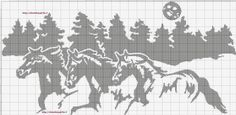Monoscheme Horses Running Cross Stitch Horse, Cross Stitch Alphabet, Cross Stitch Animals, Cross Stitch Charts, Cross Stitch Designs, Cross Stitch Patterns, Cross Stitching, Cross Stitch Embroidery, Horse Stencil