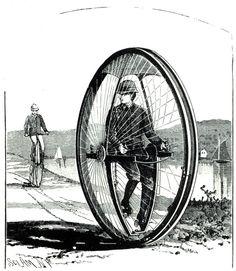 strange victorian inventions Vintage Art, Vintage Photos, Monocycle, Steampunk, Vintage Magazine, Cycling Art, Vintage Bicycles, Bike Design, Retro Futurism